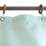 サンローズ シャワーカーテン ニードル 幅142×丈180cm グリーン 1枚入│お風呂用品・バスグッズ シャワーカーテン