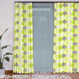 VALLILA 遮光カーテン プリーツ パークピック 100×200mm イエロー 2枚組│カーテン・ブラインド 遮光カーテン