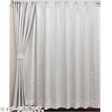 サンローズ ミスティオ 遮光防炎カーテン 2枚組 幅100×丈185 アイボリー│カーテン・ブラインド 遮光カーテン