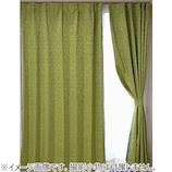 サンローズ ノーベル リーフ柄 遮光裏地付 100×135mm グリーン 1枚組│カーテン・ブラインド 遮光カーテン