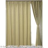サンローズ ノーベル リーフ柄 遮光裏地付 100×135mm アイボリー 1枚組│カーテン・ブラインド 遮光カーテン
