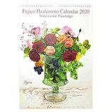 【2020年版・壁掛】フロンティア カレンダー 橋本不二子 Roses LL CAL−09
