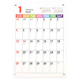 【2020年版・壁掛卓上兼用】フロンティア カレンダー ジャバラ ヨコノビ A4 CAL−42