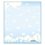 色紙 雲とシルエット SK−016