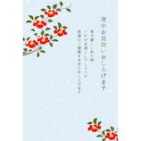 フロンティア 寒中はがき 椿と小雪 3枚入