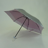 UVION 折りたたみ傘 シルバーコーティング レース柄 3862 ピンク