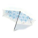 UVION 晴雨兼用傘 プレミアムホワイト クリスタル 3951 50cm ブルー