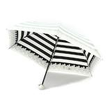 UVION 晴雨兼用傘 プレミアムホワイト ボーダー 3953 50cm ブラック