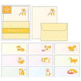 パインブック 全部ちがう柄 ミニレター 柴いぬ 犬 レターセット LS00593