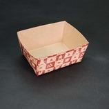 紙製パウンドケーキ焼型(M-201) ハーフカット/茶ベア/6枚入