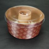 紙製シフォンケーキ焼型(M-401) フタ付/茶