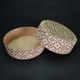 紙製デコレーション焼型(M-214) 茶市松/3枚入
