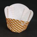 紙製カップケーキ焼型 (M-511) ミニ/黄チェック/12枚入