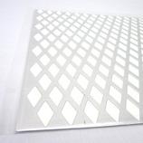 アルミパンチング板 菱形型 0.5×200×300