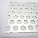 アルミパンチング板 丸型 100×200×1mm│金属材料 パンチングメタル・金網