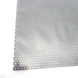 アルミパンチング板 丸型 A‐8 0.5×100×200 ブラック