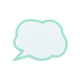 メッセージクリップ MCL−0001 ライトブルー