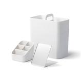 ライクイット(like−it) 持ち運びができるメイクボックス ホワイト