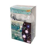 【クリスマス】 DECO LIGHT 妖精のライト ブルーホワイト 48球