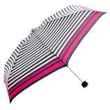 HUS. スマートデュオ 晴雨兼用折りたたみ傘 54503 ストライプ(ブラック/ホワイト)