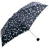 HUS. スマートデュオ 晴雨兼用折りたたみ傘 54507 ナイトニャンコ