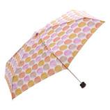 HUS. スマートデュオ 晴雨兼用折りたたみ傘 54517 ウォーターカラードットピンク