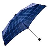 HUS. スマートデュオ 晴雨兼用折りたたみ傘 54545 ウィンドウペインネイビー