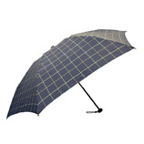 HUS. カーボンスリム 折りたたみ傘 55213 チェックネイビー/イエロー│レインウェア・雨具 折り畳み傘