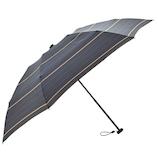 HUS. カーボンスリム50 折りたたみ傘 55560 ストライプ(グレイ/ブルー)