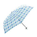 HUS. カーボンEスリム55 ラグーンチェック│レインウェア・雨具 折り畳み傘
