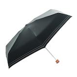 HUS. スマートデュオパラソル グレーラインブラック│レインウェア・雨具 折り畳み傘