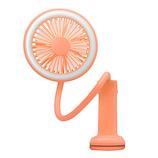 プリズメイト 充電式LEDクランプファン PR‐F029‐CK コーラルピンク