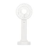 プラスモア(plusmore) 乾電池式ハンディファン スタンド&ネックストラップ付 MO−F013−WH ホワイト│生活家電 扇風機