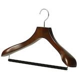 ワードローブ(WARDROBE) 男性用ジャケットハンガー ダークブラウン│ハンガー・衣類収納 木製ハンガー