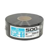 セノハウス用材 カラー平テープ巻 500m 黒│梱包資材 荷造り紐