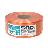 セノハウス用材 カラー平テープ巻 500m オレンジ│梱包資材 荷造り紐