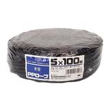 セノハウス用材 PPロープ 5mm×100m巻 黒│ロープ・ホース ロープ