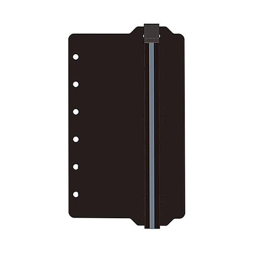 ノックス(KNOX) ゴムバンド縦 52380600 ミニ ブラック×グレー│システム手帳・リフィル