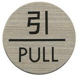 HCP ステンレスサインプレート 引/PULL ST-R002│サインプレート その他 サインプレート