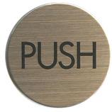 HCP ステンレスプレート PUSH ST-R008