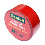 3M スコッチ プラスチックテープ 19mm 190 赤