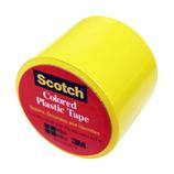 3M スコッチ プラスチックテープ 38mm 191 黄│ガムテープ・粘着テープ ビニールテープ
