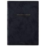 【2018年3月始まり】 デルフィーノ A5バーチカル手帳 SNICK ブラック COT-46074 月曜始まり