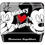 デルフィーノ 缶入りWクリップ ミッキー&ミニー ハート DZ-80131