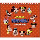 【2020年版・卓上】デルフィーノ 卓上カレンダー ミッキー&フレンズ
