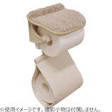 カームランド クラフトチェック ペーパーホルダーカバー ベージュ│トイレ用品 トイレットペーパーホルダー