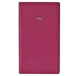 【2021年12月始まり】 生産性手帳 パーソナル ポケット マンスリー 5 ワインレッド 月曜始まり