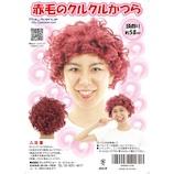 赤毛のクルクルかつら