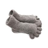 もこもこ5本指靴下 ショート 杢グレー