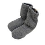 SocksDEPO もこもこ先丸ソックス ショート丈 チャコールグレー 871−02